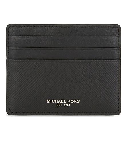 MICHAEL KORS 哈里森皮革卡夹 (黑色