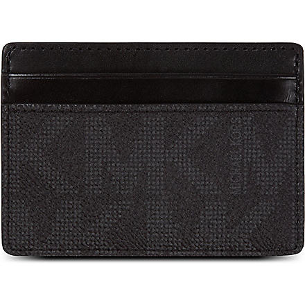 MICHAEL KORS Logo card case (Black