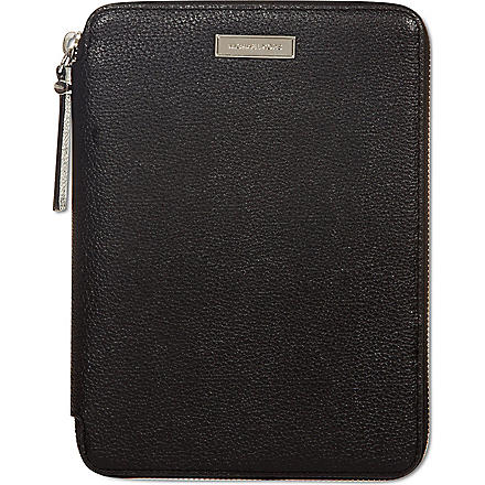 MICHAEL KORS Leather iPad mini case (Black