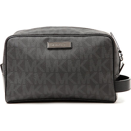 MICHAEL KORS Logo wash bag (Black