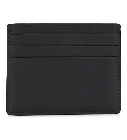 MICHAEL KORS Odin leather card holder (Black