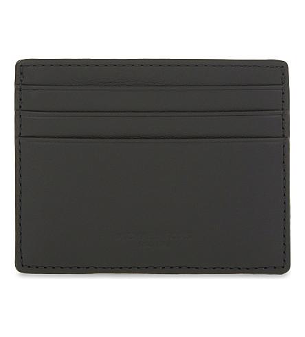 MICHAEL KORS Odin smooth leather card holder (Black