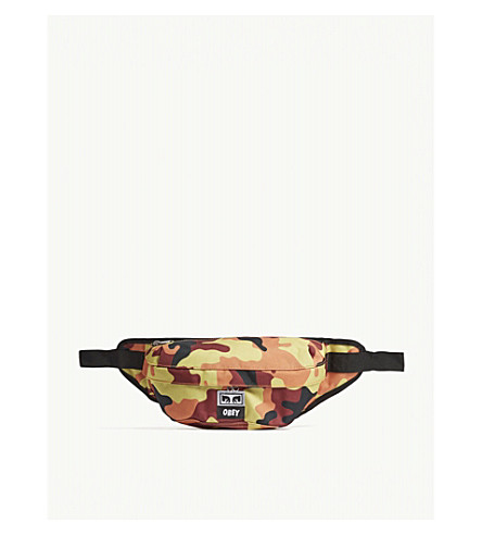 OBEY Drop Out bum bag (Orange field camo