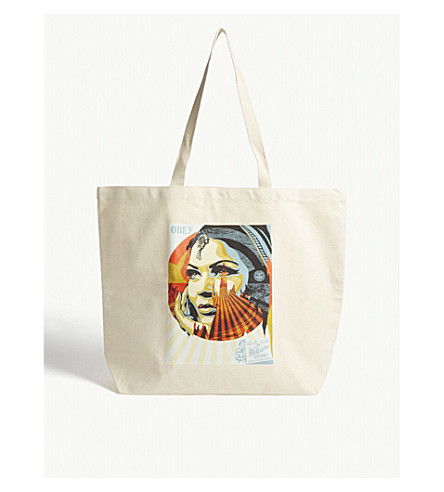 OBEY tote lienzo Natural Excepciones objetivo rBqPHwrFp