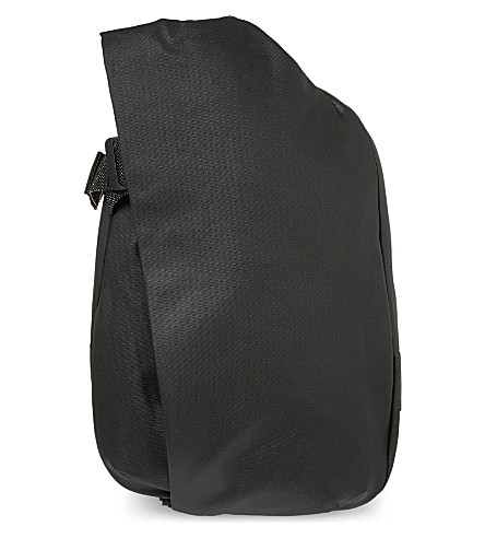 COTE & CIEL Isar coated canvas rucksack (Black