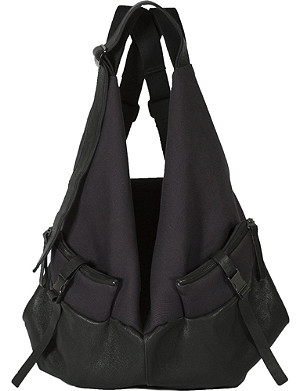 COTE & CIEL Ganges large leather & canvas backpack