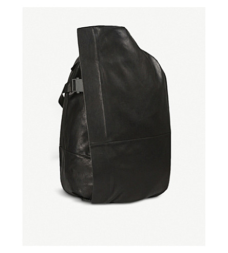 COTE & CIEL Isar leather backpack (Black