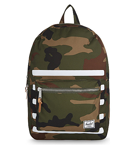 HERSCHEL SUPPLY CO Striped woodland camouflage Settlement backpack (Woodland+camo