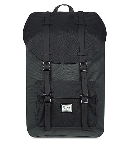 HERSCHEL SUPPLY CO Little America backpack (Drk shdw/blk/blk rubbr