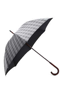 LONDON UNDERCOVER Double-layered check umbrella