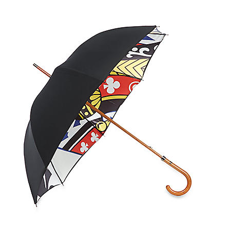 LONDON UNDERCOVER King of clubs umbrella (Black