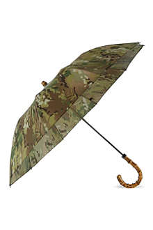 LONDON UNDERCOVER Foldable bamboo handle umbrella