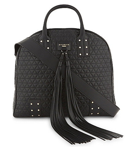 BALMAIN Domaine quilted leather tote (Black