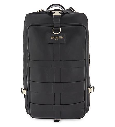 BALMAIN Nomade medium leather backpack (Black