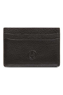 ARMANI Nappa leather logo card case