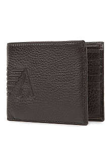 EMPORIO ARMANI Bi-fold leather wallet