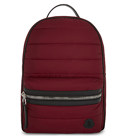 MONCLER George padded nylon backpack (Red