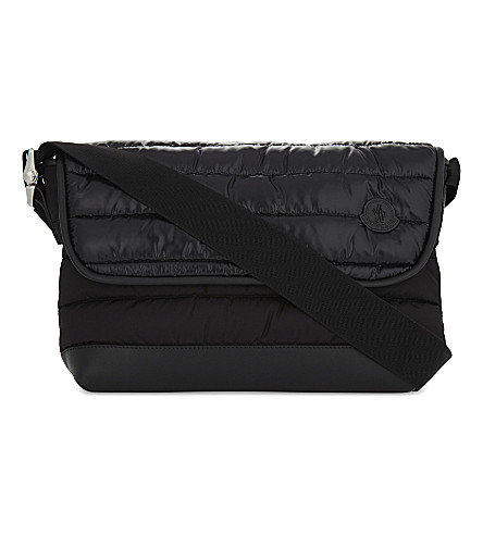 MONCLER Kino padded messenger bag (Black