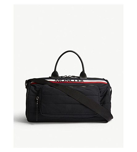 MONCLER Kunulm quilted duffle bag (Black+red+white