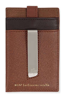 WANT LES ESSENTIELS Kennedy grained-leather money clip wallet