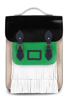 THE CAMBRIDGE SATCHEL COMPANY Christopher Shannon contrast-coloured fringed satchel backpack