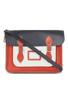 THE CAMBRIDGE SATCHEL COMPANY Colourblock leather satchel
