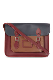 THE CAMBRIDGE SATCHEL COMPANY Colour block leather satchel