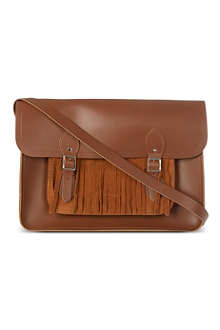 THE CAMBRIDGE SATCHEL COMPANY Suede fringe satchel