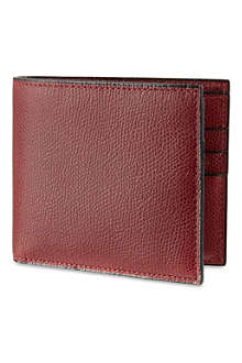 VALEXTRA Soft leather billfold wallet