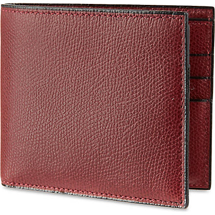 VALEXTRA Soft leather billfold wallet (Maroon