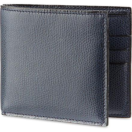 VALEXTRA Soft leather billfold wallet (Navy