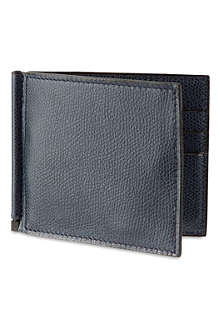 VALEXTRA Soft leather money clip wallet