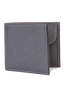 VALEXTRA Pebbled leather coin wallet