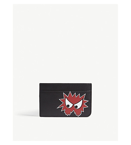 MCQ ALEXANDER MCQUEEN Character leather card holder (Black