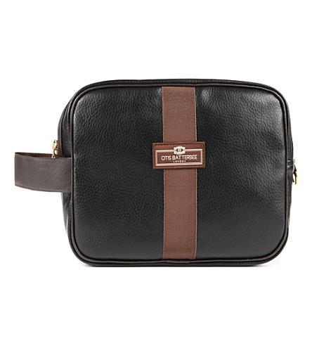 OTIS BATTERBEE LTD Large faux-leather wash bag (Black