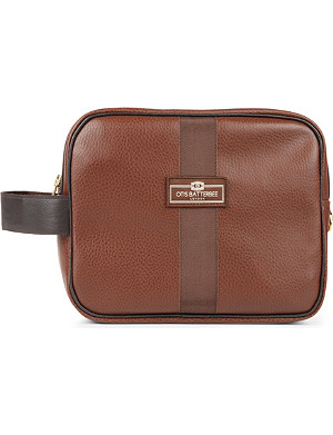 OTIS BATTERBEE LTD Large faux-leather wash bag