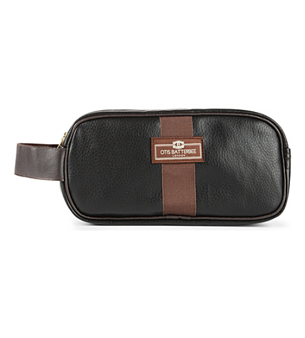 OTIS BATTERBEE LTD Small faux-leather wash bag (Black