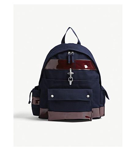 RAF SIMONS Eastpak Functional canvas backpack (Dark+navy