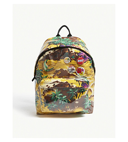 DSQUARED2 Hawaiian Rocker backpack (Multicolour