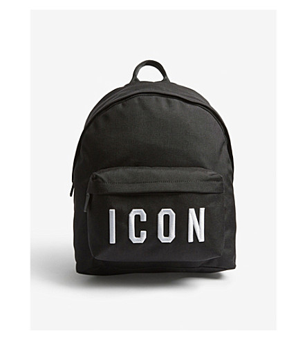 DSQUARED2 Icon backpack (Black+white