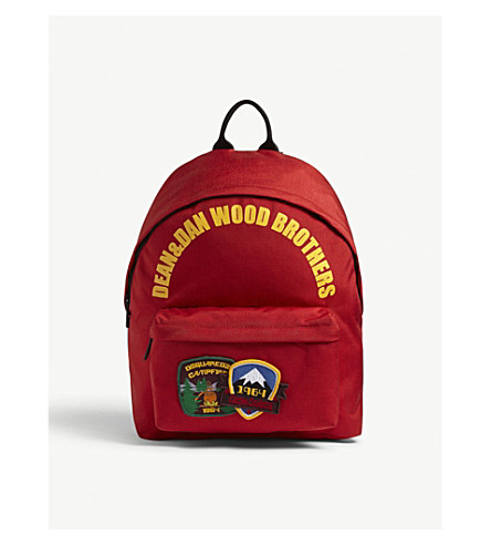 DSQUARED2 Wood Brothers backpack (Red