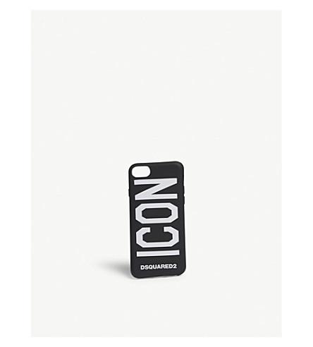 DSQUARED2 Icon iPhone 8 silicone case (Black+white