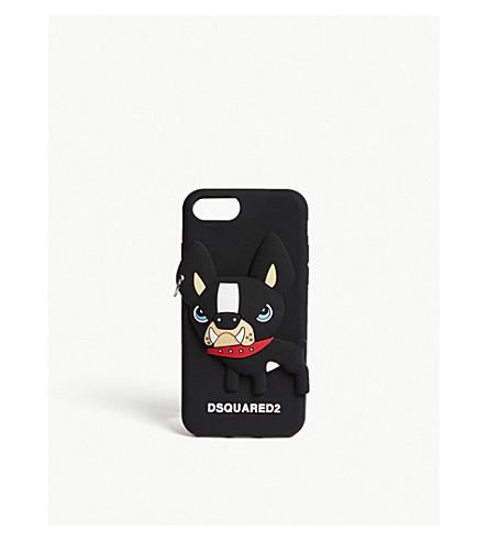 DSQUARED2 Dog silicone iPhone 7 case (Black