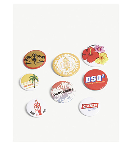 DSQUARED2 Logo pin badges 8-pack (Multicolour