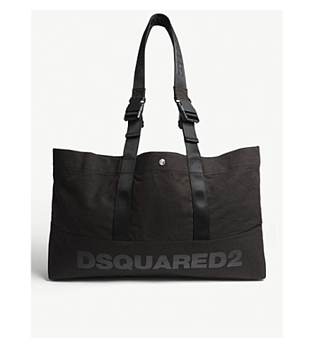 DSQUARED2 Funny handle canvas duffle bag (Black