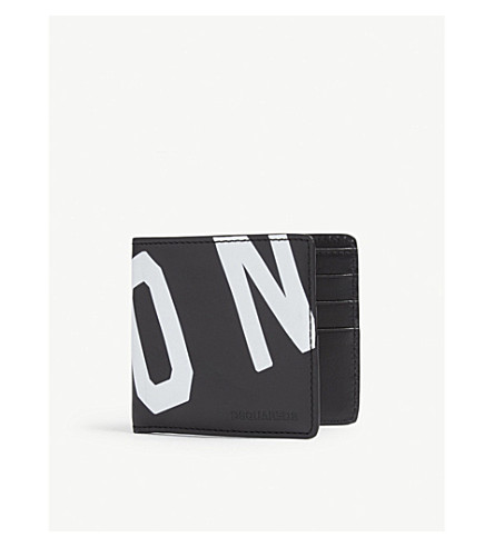 DSQUARED2 Icon leather wallet (Black