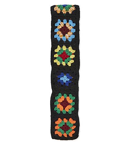 JW ANDERSON Crochet knitted tie (Black/multi