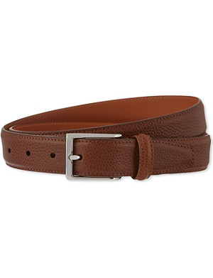ANDERSONS Textured leather belt