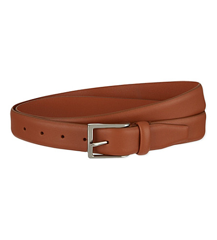 ANDERSONS Soft leather belt (Tan