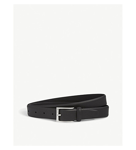 ANDERSONS Soft leather belt (Black